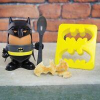Eierbecher Batman mit Toastschneider Dark Knight Frühstück Ei Frühstücksei