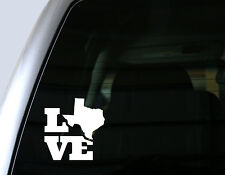 Love Texas, Home State - Car Window Decal, Bumper Sticker, Laptop Decal
