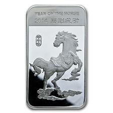 10 oz Silver Bar - APMEX (2014 Year of the Horse) - SKU #77548