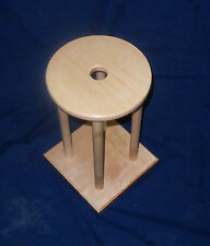"10"" Kumihimo Marudai with  2 sets of Removable Legs 16"" & 24""  - Hard Maple"