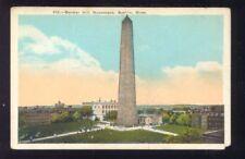 Bunker Hill Monument BOSTON Massachusetts Vintage  Postcard