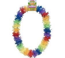 Disfraz Hawaiano Guirnalda Arcoiris Multi Color Nuevo