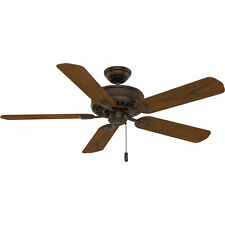 Casablanca Ainsworth 54 Inch Wooden Indoor Ceiling Fan with Pull Chain, Walnut
