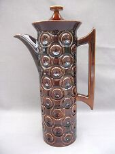 A rare brown Jupiter pattern Portmeirion Coffee Pot - Susan William Ellis