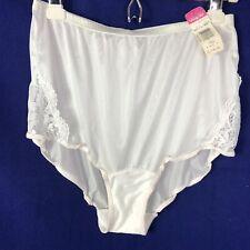 Vintage Vanity Fair Nylon Granny Lace Insert Panties sz 7 Nos White Semi Sheer