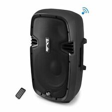 "New 600W 8"" Subwoofer Bluetooth Portable DJ LoudSpeaker System USB AUX-IN Remote"