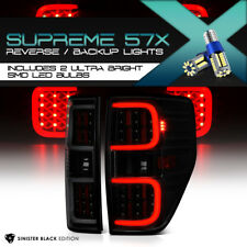 [FULL SMD BACKUP] [DARKEST SMOKE] LED Tube Tail Lights For 2009-2014 Ford F150