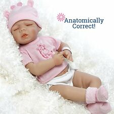 "18"" Anatomically Correct Full Vinyl Realistic Newborn Baby Twin Baby Girl Doll"