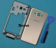 For Samsung Galaxy J7 SM-J700 Glod Housing Middle Frame+Battery Cover Parts