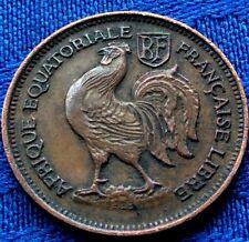 MONNAIE ANCIENNE 50 Cmes AFRIQUE EQUATORIALE FRANçAISE 1943