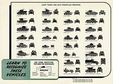 World War 2 - Recognize Light Tanks and Weapons -18x24