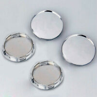 4x 68mm Plating Silver Car Wheel Tire Center Hub Caps Covers Set No Logo Chrome