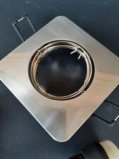 Faretto da incasso in acciaio satinato completo di porta lampada GU10