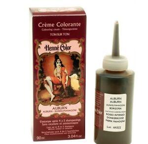 Henna Hair Colour Cream Dye Auburn Henne Paris 90ml Ammonia Free