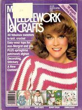 McCall's Needlework & Crafts April 1981 Ann-Margret Knitting Patterns Crochet