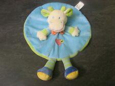 doudou vache bleu verte cœur fleur rayure sidj état neuf