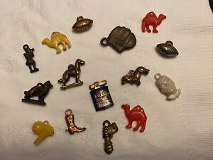 Vintage Cracker Jack Bubble Gum Machine Prizes Charms LOT of 15