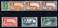 GIBRALTAR King George VI 1938-51 Pictorial Part Set SG 121 to SG 127b MINT