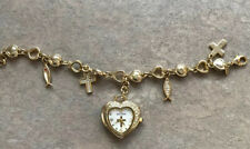 Waltham Women's Charm Braclet Watch With Crystal Accents EUC D-3