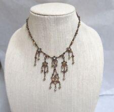 Swarovski Crystal Necklace Nwot Sorrelli Antique Gold Tone