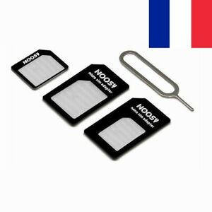 Kit Universel Adaptateur de SIM Micro Nano Standard + Broche d'Extraction 4 en 1