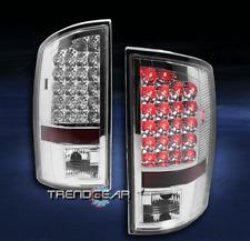 2002-2006 DODGE RAM 1500/2003+ 2500/3500 TRUCK LED TAIL BRAKE LIGHTS LAMP CHROME