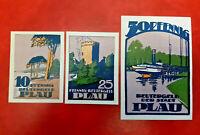 PLAU REUTERGELD NOTGELD 10, 25, 50 PFENNIG 1922 NOTGELDSCHEINE (13146)