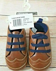Joseph Allen Baby Shoes Size 3 Infant Brown Wingtips Faux Leather Oxford New