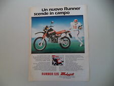 advertising Pubblicità 1985 MOTO MALAGUTI RUNNER 125