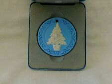Wedgwood England Blue Jasperware 1988 Christmas Ornament In Original Box
