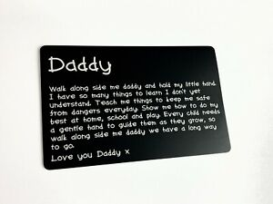 Fathers Day Metal Wallet Card Present Dad Daddy Keepsake Gift Ideas For New Dads