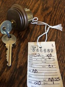 Yale AB Mortise Cylinder Lock w GA Keys & 3/16 Trim Ring - Locksmith