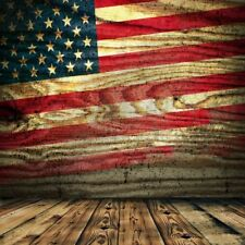 Vintage Wooden Board Printing Flag Photography Backgrounds Backdrops 8x8FT Vinyl