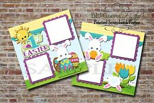 1st Easter Bunny 2 PRINTED Premade Scrapbook Pages Boy Girl Baby BLJgraves 12