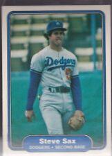 1982 FLEER BASEBALL STEVE SAX ROOKIE #21 DODGERS NMMT/MINT *58089