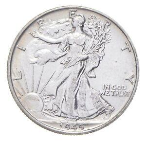 AU/Unc - 1945 Walking Liberty Silver Half Dollar - Better *285