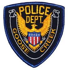 GOOSE CREEK SOUTH CAROLINA SC Police Sheriff Patch GOLDEN EAGLE VINTAGE OLD MESH