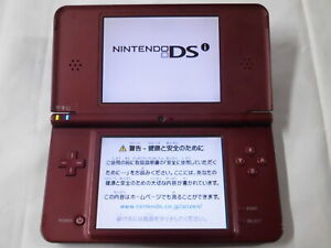 X4821 Nintendo DSi LL XL console Wine Red Japan w/stylus pen