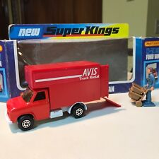 MATCHBOX LESNEY SUPER KINGS K-29 FORD DELIVERY VAN AVIS w/FIGURE with BOX