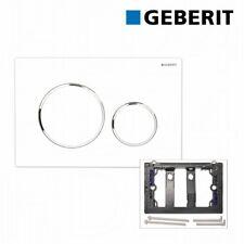 Geberit Betätigungsplatte Sigma20 für 2-Mengen-Spülung weiss/chrom, 115882KJ1