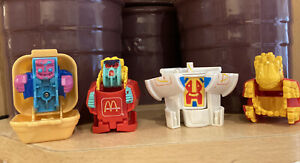 Collection Of 4 Small MacDonald's Transformer Toys 1987-90