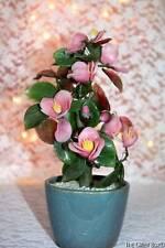 Vintage Flowering Pink Cherry Blossom Decorative Tree Asian Oriental Art