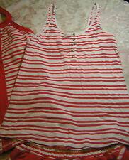 Lululemon 4 6 Heart Opener Tank Love Red Twin Stripe EUC! HTF! Cute!