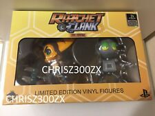 "Ratchet & and Clank Vinyl Action Figure SET x2 Official 4.25"" / 5"" Tall"