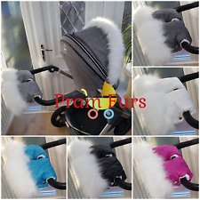 Single Pram Handmuffs Pram Mittens Choise Colour White Fur From 💖 Pram Furs 💖