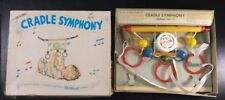 Vintage Wooden Musical Mobile Crib Toy Cradle Symphony With Box