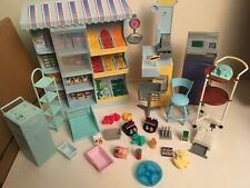 Barbie Doll Shop furniture inc Till, ATM, Scales, Shelving and stock items etc
