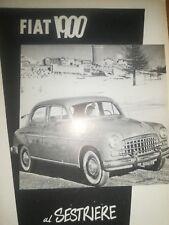 FIAT 1900 SESTRIERE TORINO -PUBBLICITA'-ADVERT -