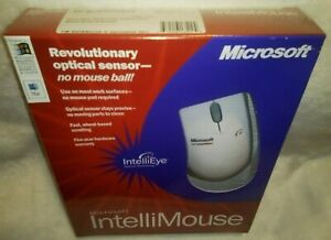Vtg Microsoft IntelliMouse with IntelliEye (PS2/USB) (PC/Mac) NOS Factory Sealed