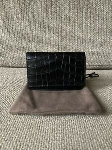 Bottega Veneta Crocodile Card Holder Wallet